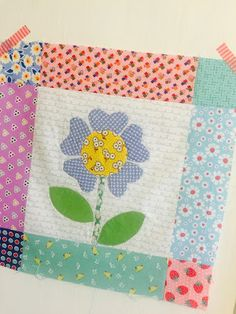 Bloom Sew Along Block 15 featuring various Penny Rose reproduction and vintage inspired fabrics #ilovepennyrose #fabricismyfun