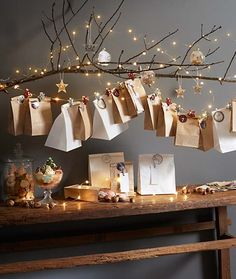 35 DIY Advent Calendar Ideas Anyone Can Make. These easy ideas are so clever, definitely pinning! DIY your very own homemade Christmas advent calendar and add some more festive decorations to your home! Homemade Advent Calendars, Diy Advent Calendar, Kids Calendar, Calendar Ideas, Noel Christmas, Christmas 2019, Christmas Lights, Christmas Crafts, Homemade Christmas