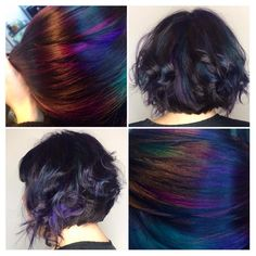 "Vancouver Hairstylist on Instagram: ""OIL SLICK"""
