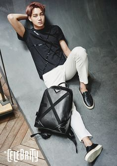 i would wear that t-shirt and that bag->>> EXO for The Celebrity Magazine July 2015. Photographed by Oh Jung Seok