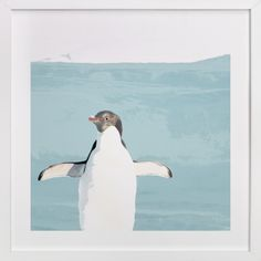 """Naked Penguin"" - Art Print by Pad and Paper in beautiful frame options and a variety of sizes."