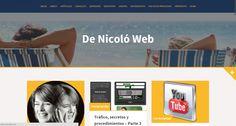 Después de mucho trabajo al fin mi sitio totalmente renovado!!! Me gustaría conocer tu opinión... http://denicoloweb.com