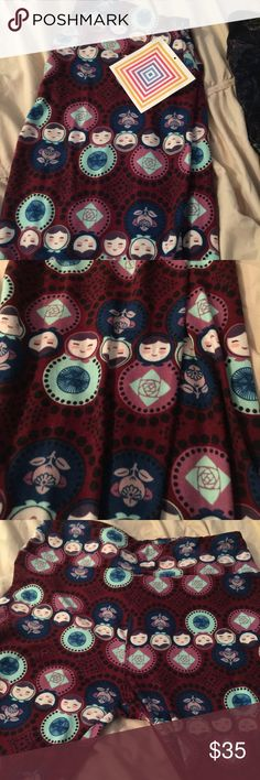 NWT LulaRoe OS Russian Dolls Leggings Unicorn OS Beautiful leggings with Russian Dolls Buttery Soft Unicorn Cute with outfits LuLaRoe Pants Leggings
