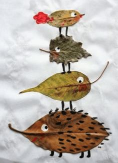 7 fabulous autumn leaf crafts to make today! - - Here are 7 fabulous autumn leaf crafts that you can try today. Most are easy enough for even the youngest of kids and they all promise to be great fun. Kids Crafts, Easy Fall Crafts, Leaf Crafts, Fall Crafts For Kids, Creative Crafts, Diy For Kids, Crafts To Make, Summer Crafts, Toddler Crafts