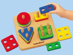 Sort-A-Shape Activity Board~ another great fine motor skill activity for younger preschoolers that helps children to identify shapes♥