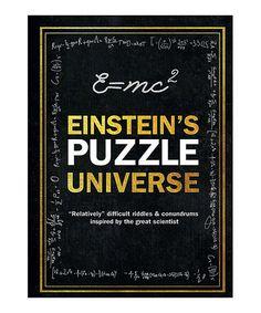 Love this Einstein's Puzzle Universe Hardcover on #zulily! #zulilyfinds