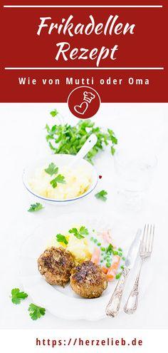 Fleisch Rezepte, Hausmannskost Rezepte: Rezept für Frikadellen, Buletten, Bratklopse, Fleischpflanzerln, Fleischlaberl, Fleischküchle oder Faschierte Laibchen wie von Oma von herzelieb! Einfach, schnell und gut! #mittagessen #klassisch #herzelieb #fleisch #abendbrot #hack #hackfleisch Little Bunny Foo Foo, Catering, Three Little Pigs, Mellow Yellow, Beef, Recipes, Golden Rule, Lip Service, Foodblogger
