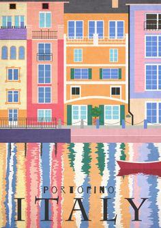 New Travel Poster Italy Illustrators Ideas Italy Illustration, Italian Theme, Poster S, Vintage Travel Posters, Portofino Italy, Positano Italy, Sorrento Italy, Verona Italy, Capri Italy