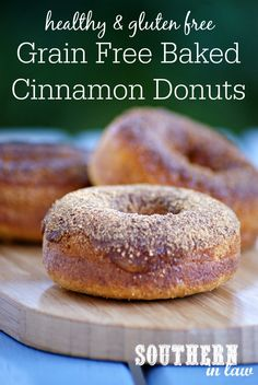 Grain Free Baked Cinnamon Donuts Recipe | low fat, gluten free, grain ...