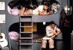 Sleeping pocket - Like the utilitarian vibe here lister-rimmer-bunk-mates-red-dwarf. Bridesmaids 2011, Sci Fi Comedy, Music Documentaries, Spaceship Interior, Red Dwarf, Best Sci Fi, Classic Comedies, British Comedy, Science Fiction Books
