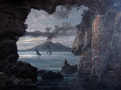 """"""" Johan Christian Dahl. Gulf of Naples Seen From Cave, 1821. Oil on canvas. """""""
