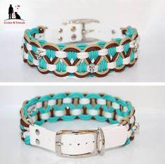 Neu!! ♥ Wunderschöne #Paracord #Hunde #Halsbänder und #Leinen JETZT in meinem Shop erhältlich ab 15,99 € https://de.pinterest.com/jennisaccount/ 10% der Einnahmen gehen an die Hunde von www.hundehilferum... #Hundehalsbänder