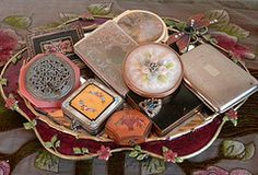 """vintage compacts ....when women """"powdered"""" their noses in style........."""