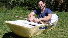 Aprenda a como fazer passo a passo um barco de papel de dobradura origami gigante! Nesse você poderá entrar nele e tentar sair pescar e navegar com ele!