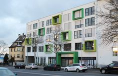 Cicero Apartmentshaus in Aschaffenburg nach Fertigstellung, Ansicht Würzburger Straße