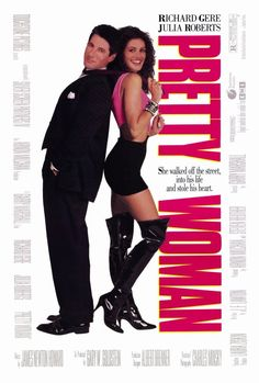 Pretty Woman, This romantic comedy Cinderella tale stars Julia Roberts and Richard Gere. This is the film that made Julia Roberts a star. Richard Gere, See Movie, Movie Tv, 80s Movie Posters, Classic Movie Posters, Pretty Woman Film, Pretty Movie, Bon Film, Women Poster