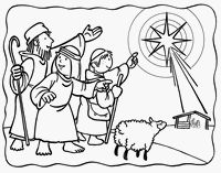 Advent Mary and Joseph and Donkey Coloring Page