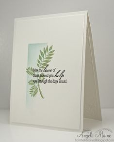 CAS Sympathy card. Note masking, sponging, white on white layer