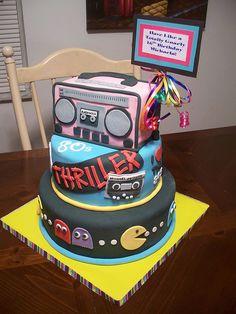 80s Birthday Cake by Cakes By Jen, via Flickr