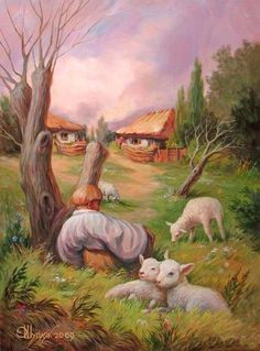 Incredible Optical Illusions by Oleg Shuplyak in Painting