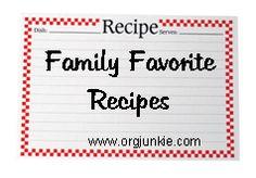 menu planning/freezer friendly meals