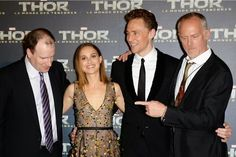 Natalie Portman y Tom Hiddleston en la premiere de Thor El Mundo Oscuro en París ~ ActorsZone