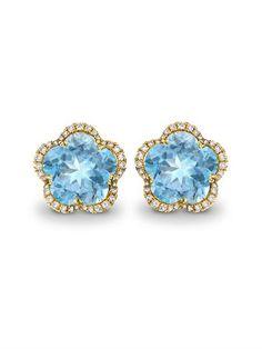 Diamond, blue-topaz & gold Eden earrings | Kiki McDonough | MA...