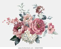 D Flowers, Birth Flowers, Bunch Of Flowers, Arte Floral, Floral Motif, Flower Prints, Flower Art, Feather Wallpaper, Botanical Prints