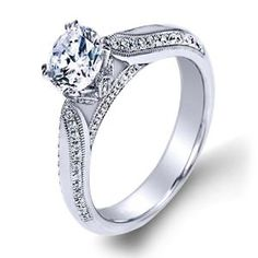 Shop online AMAVIDA WAY-00923 Solitaire 18K - White Gold Diamond Engagement Ring at Arthur's Jewelers. Free Shipping