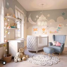 You know that feeling you get when you get to squeeze a little baby leg that's peeking out of a blankie? That same satisfactory feeling applies here. Baby Boy Room Decor, Baby Room Design, Baby Bedroom, Baby Boy Rooms, Baby Boy Nurseries, Nursery Room, Girl Nursery, Girl Room, Kids Bedroom