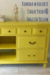 Komoda w kolorze Chalk Paint® English Yellow, oczywiście Annie Sloan. Zabezpieczona bezbarwnym woskiem Annie Sloan Soft Wax Clear. @oldnewstyle