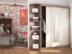 Šatníková skriňa s posuvnými dverami č. 1 z kolekcie KRETA vo farebnej kombinácii jasan tmavý/jasan svetlý. Trojdverová skriňa má 2 plné dvierka a 1 sú so zrkadlom. Súčasťou kompletu je aj praktický rohový regál. Vo vnútri sa nachádza vešiaková tyč a 4 menšie + 1 veľká polica. #byvanie #domov #nabytok #skrine #skrinespojazdom #modernynabytok #designfurniture #furniture #nabytokabyvanie #nabytokshop #nabytokainterier #byvaniesnov #byvajsnami #domovvashozivota #dizajn #interier #inspiracia… Thing 1, Bookcase, Entryway, Shelves, Furniture, Home Decor, Entrance, Shelving, Decoration Home
