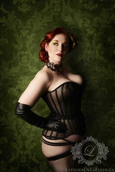minalafleur: Thank you all for the love for the first picture I shared of the sheer corset, I feel encouraged to share another! A little less sweet, a little more femme fatale. :) Jet crystal web by Jeanie Schlegel: Jewellery Artist Women Lingerie, Sexy Lingerie, Crystal Web, Steampunk Couture, Corset Costumes, Overbust Corset, Boned Corsets, Lace Tights, Leather Corset