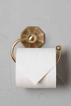 brass circlet toilet paper holder would look awesome with black or blue or wood paneling