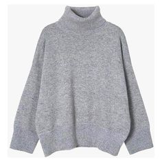 Turtleneck Crop Sweater (4.570 RUB) ❤ liked on Polyvore featuring tops, sweaters, light gray, crop top, long sleeve sweater, oversized cropped sweater, short-sleeve turtleneck sweaters and long sleeve crop top