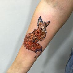 Beautiful fox tattoo