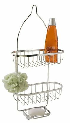 HDS Trading SC10135 5 in. x 12 in. x 24 in. Shower Caddy Chrome by HDS Trading. $14.98. Chrome shower caddy. 2 shelves hang from shower head. 5 inches by 12 inches by 24 inches. Great for organizing your shower accoutrements. This chrome shower caddy looks great and is an essential accessory to any shower.