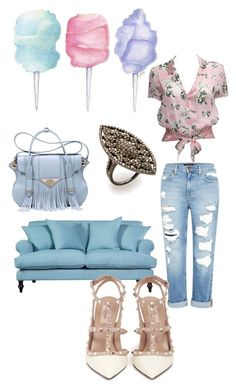 September vibes by giubagnols on Polyvore featuring polyvore, fashion, style, Karl Lagerfeld, Genetic Denim, Valentino, Ella Rabener, Azaara, Cotton Candy, Wallace and clothing