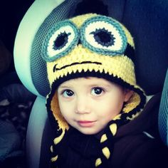 Minion Knit Hat! MY CHILD WILL HAVE ONE OF THESE.