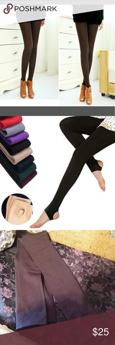 ?? Top Fashion Stir-up Leggins Top Fashion Comfortable Women's Cotton Pants Stirrup Leggings  Warm Hotsale   New in Manufactures packaging.   Soft Material.  Feels Great.   These are ticker material.  Really Nice Stir up Pants.  Brown. Pants Leggings