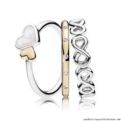 e25fb7642 Pandora rings sale clearance Loving Symbols Ring Stack, pandora stacking  rings sale together, pandora rings buy two get one for free, so we make  this ...