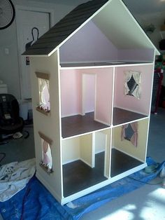 The Alyssa Handmade Dollhouse for 18 Dolls by NaptimeWoodworks, $650.00