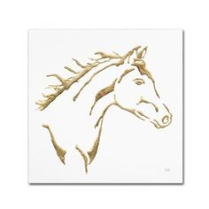 Trademark Fine Art 'Gilded Filly on White' Canvas Art by Chris Paschke, Brown