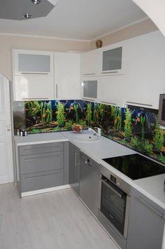 Akvaarium köögi tagaseinal