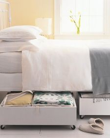 How to create under-the-bed storage.