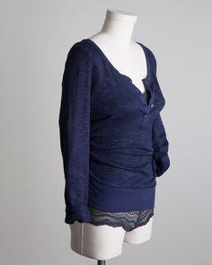 Soft Joie Annika Lightweight Slub Open Neck Sweater