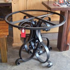 Wrought Iron Dining Table Base – Heavy Flat Iron Pedestal Table Base w/ Scrolls, Black – metal of life Iron Furniture, Steel Furniture, Industrial Furniture, Wrought Iron Decor, Wrought Iron Gates, Table Cafe, Dining Table, Pedestal Table Base, Iron Table