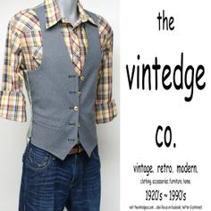 vintage // mens rockabilly western brown plaid by thevintedgeco, $39.00