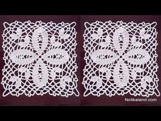 Knitting Patterns Lace Crochet motif Pattern for Doily Tablecloth Table runner PART 5 Crochet Stitches Chart, Crochet Motif Patterns, Lace Knitting Patterns, Crochet Squares, Thread Crochet, Knitting Yarn, Crochet Placemats, Crochet Table Runner, Crochet Doilies