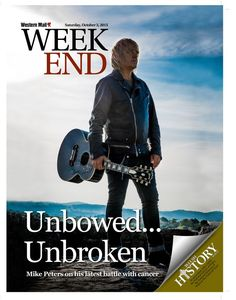 The moody cover of today's Week End magazine